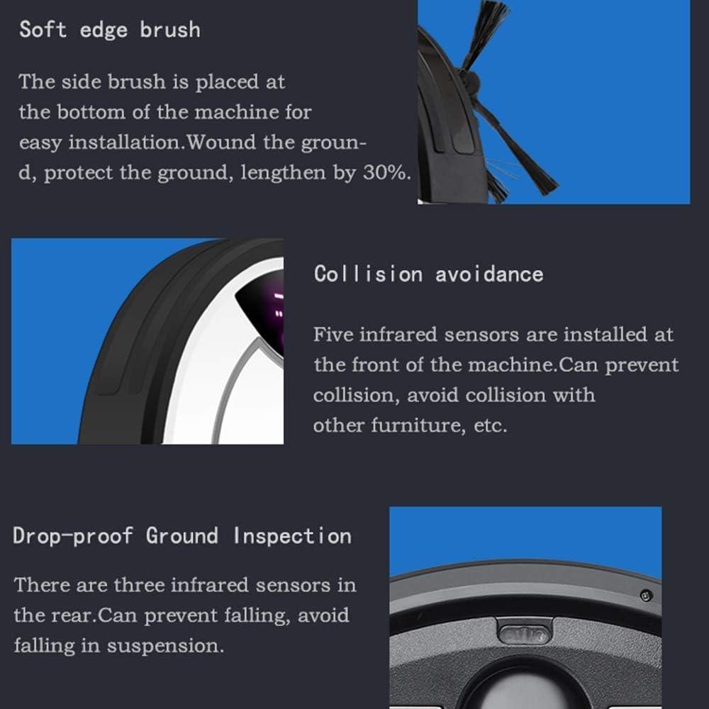 Aspirateur Robot, Autochargement Et Protection Anti-Chute Anti-Collision Navigation Dynamique Intelligente Aspirateur Robot, Blanc Rouge