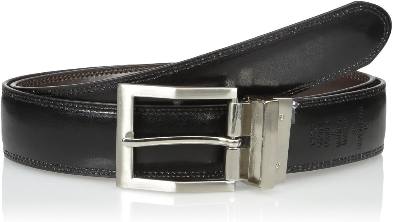 Adolfo Mens Reversible Belt with Edge Stich