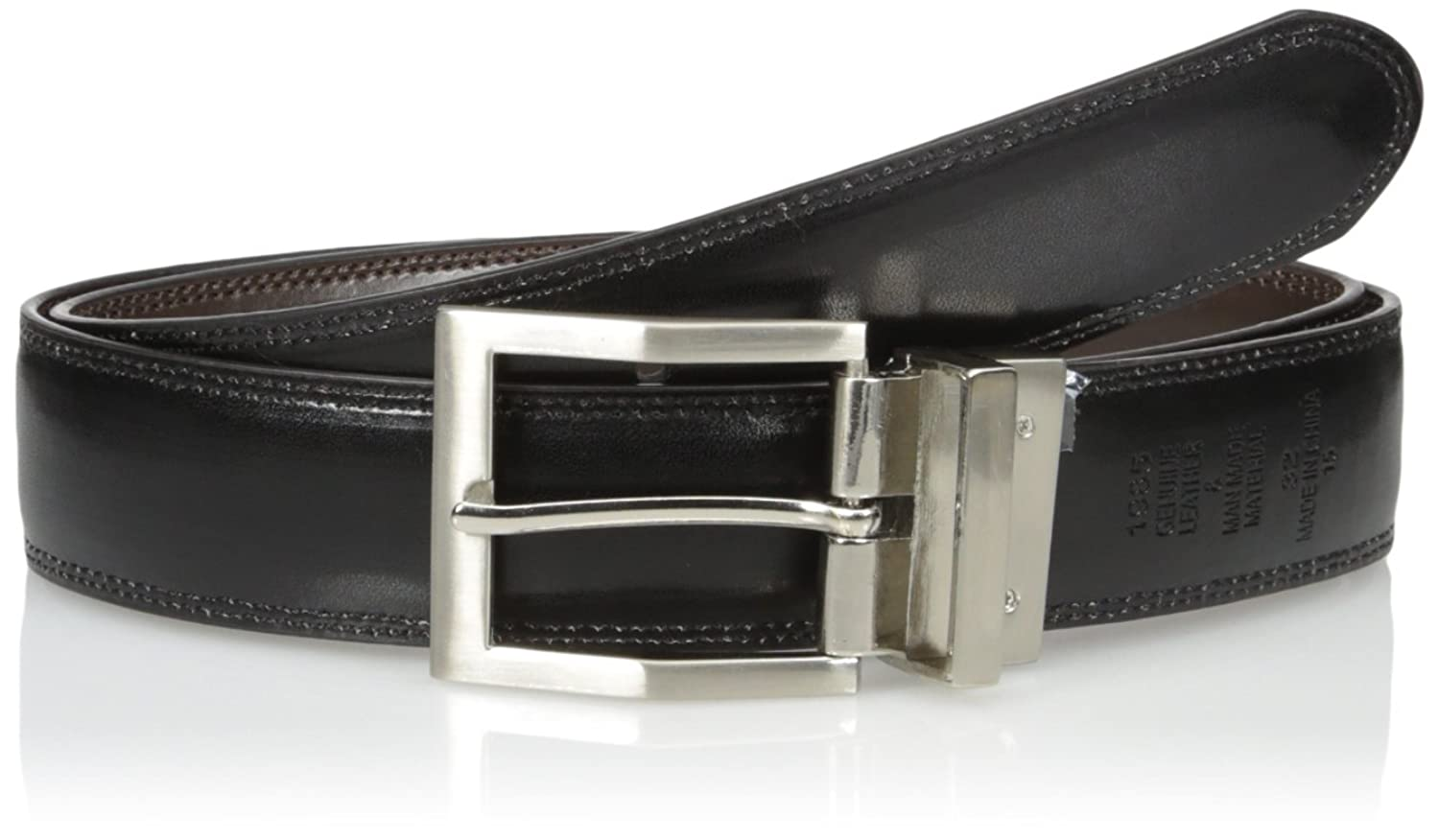 Adolfo Men's Reversible Belt with Edge Stich at Amazon Men's Clothing store: