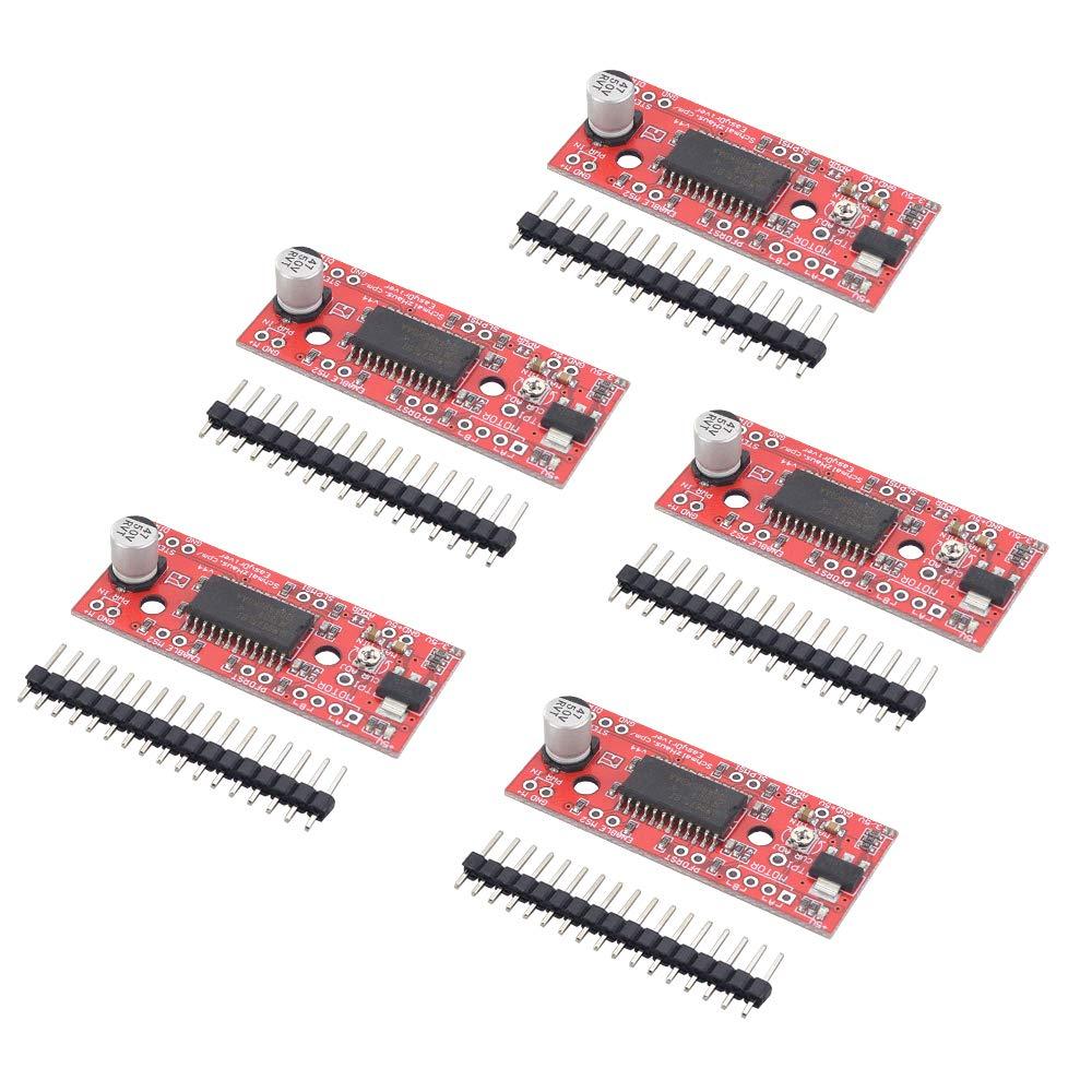 MybotOnline 5 Pack A3967 Stepper Motor Driver Board EasyDriver Shield 7V-30V for EK1204