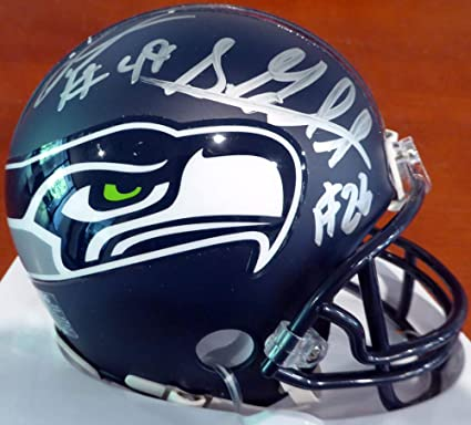 Shaquem   Shaquill Griffin Signed Auto Seattle Seahawks Mini Helmet In  Silver - Certified Authentic 3c9732239