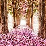 AOFOTO 10x10ft Spring Cherry Blossoms Backdrop Sweet Flower Tree Photography Background Girl Bride Woman Lady Mother Artistic Portrait Wedding Floral Petal Boulevard Photo Studio Props Vinyl Wallpaper
