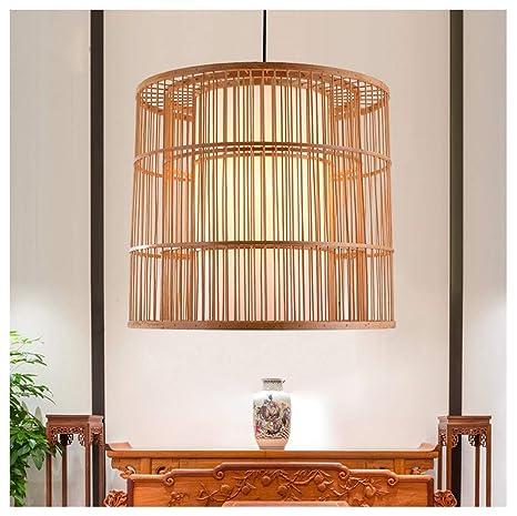 H.L Araña Sala de Estar Comedor Bambú Colgante Luz Pastoral ...