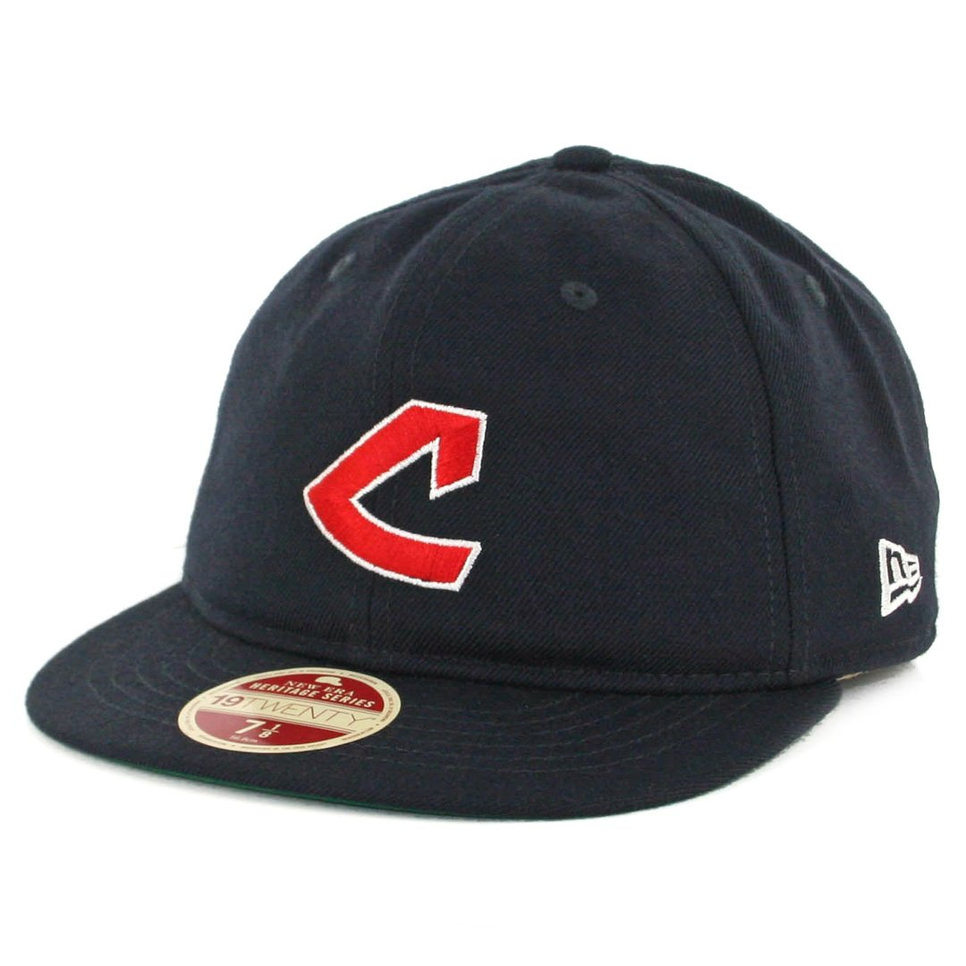 meet 895a4 a8192 Amazon.com   New Era 5950 Cleveland Indians Vintage Wool Classic Fitted Hat  (Dark Navy) Cap   Clothing
