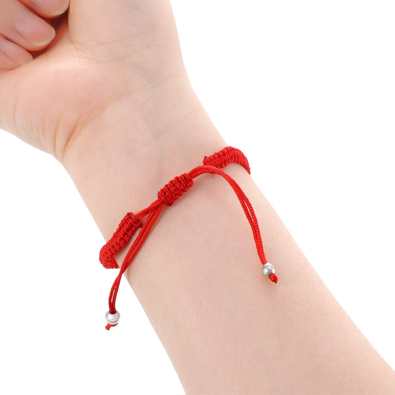 Norme 10 Pieces Kabbalah Bracelet String Bracelet Lucky Bracelet with Rotating Evil Eye Hamsa Hand
