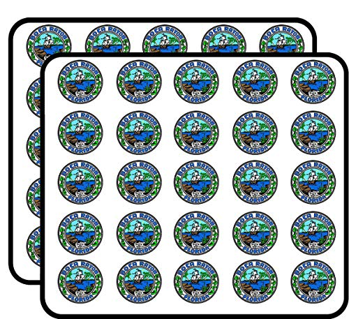 Boca Raton Florida City Seal (Logo fl Beach) Sticker for Scrapbooking, Calendars, Arts, Kids DIY Crafts, Album, Bullet -