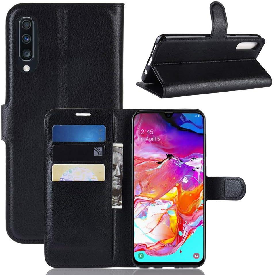 subtel® Carcasa Compatible con Samsung Galaxy A70 (SM-A705F) Cuero PU Flip Cover Tapa Funda Flip Tipo Libro Flip Case con Ranuras para Tarjetas Negro: Amazon.es: Electrónica