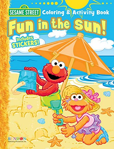 Sesame Street Fun in the Sun Coloring and Activity Book - Includes Stickers (Elmo Coloring Book)