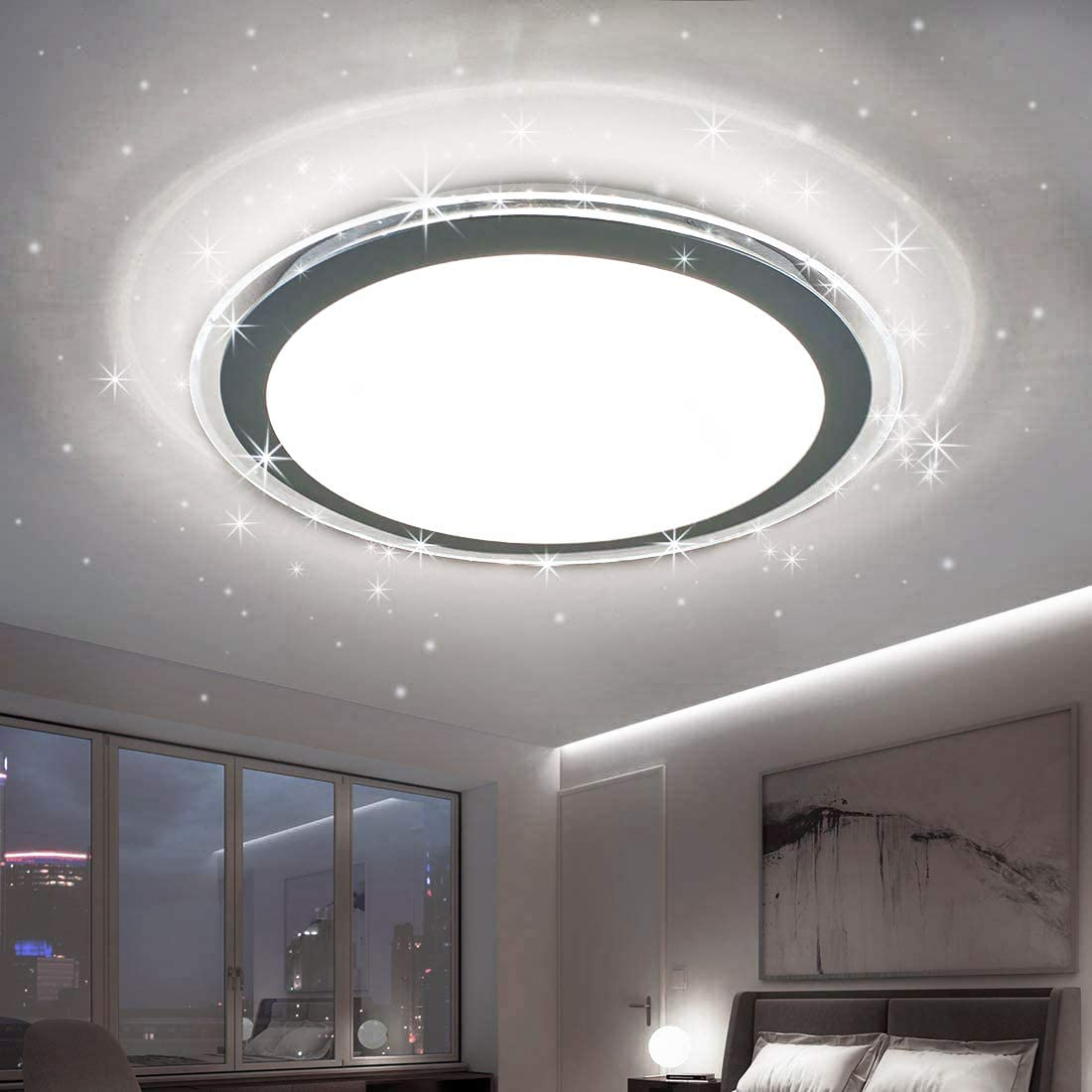 Amazon Com Dllt 22w Led Flush Mount Ceiling Light Fixture Round Bright Disk Light Panel Wall Ceiling Down Lights 6000k Cool White Perfect For Kitchen Dining Room Balcony Study Bedroom Home Improvement