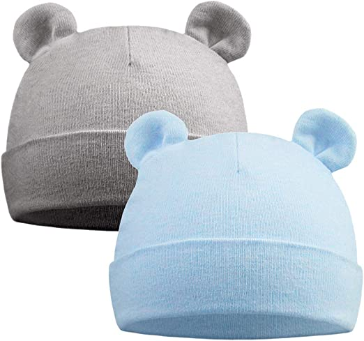 Baby Hat Warm Cute Beanies Cotton Soft Solid Winter Hats Baby Infant Caps