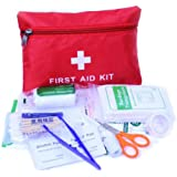 Aolvo Safety First Aid Kit Medical Survival Bag Small First Aid Kit Emergency Survival Set for Workplace Office Home Outdoor