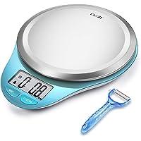 CAMRY Balance de Cuisine Electronique, Balance Alimentaire Numérique Plateforme Acier Inoxydable Écran LCD, 5kg/11lb,Haute Précision,Fonction Tare, Auto-Arrêt