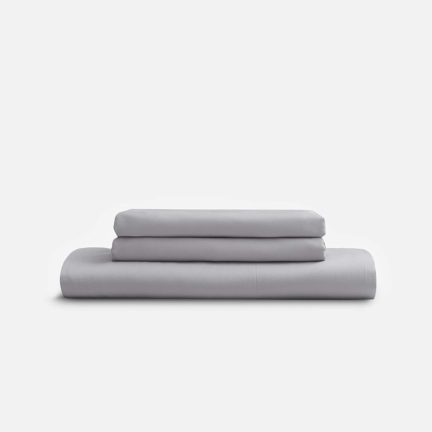 Sijo Premium 100% Bamboo Lyocell Bed Sheet Set 3 Piece, 2 Pillowcases, 1 Fitted, 3rd Gen Bamboo Sheets, Cooling Sheets, Moisture Wicking, Great for Hot Sleepers (Dove, Queen - Minimal 3 Piece)