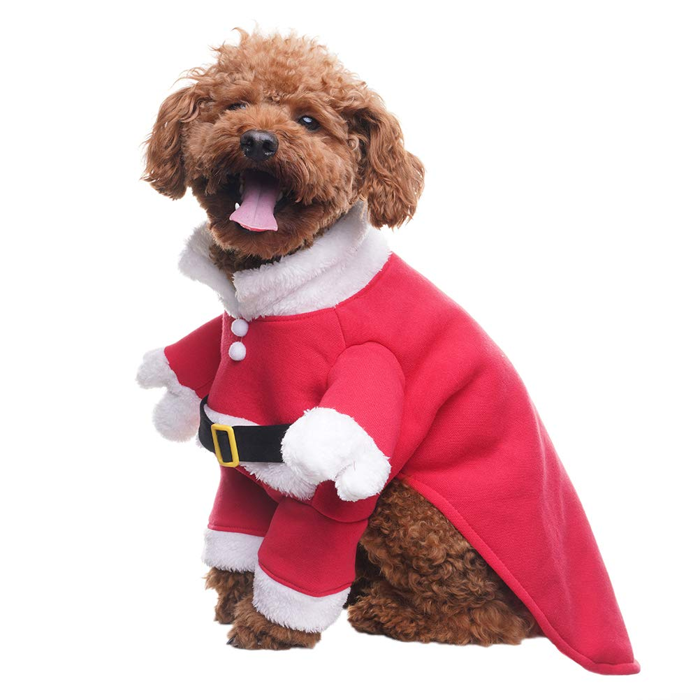 Amazon.com: BINGPET - Disfraz de Papá Noel y gorro para ...