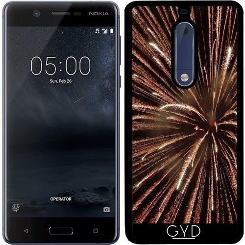 Funda de silicona para Nokia 5 - Fuegos Artificiales by Warp9