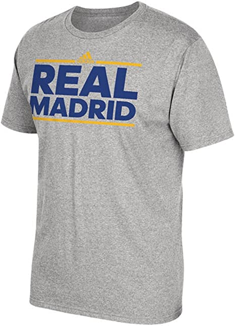 adidas Real Madrid Dassler Mundial Gris Camiseta: Amazon.es ...