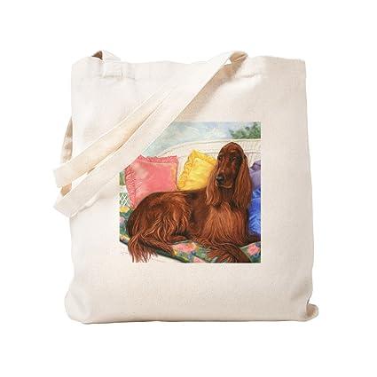 f159f307d43 CafePress - Irish Setter Dog - Natural Canvas Tote Bag, Cloth Shopping Bag