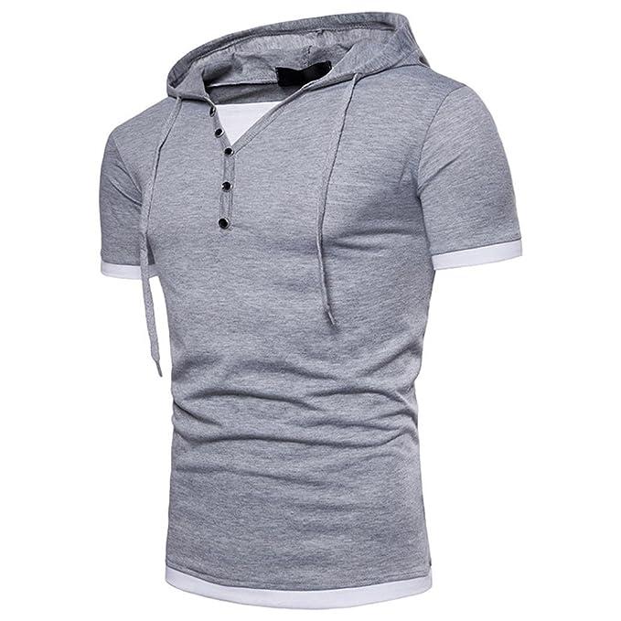 Camisetas Moda Hombre Camiseta con Capucha para Hombre Camisetas Hombre Originales Camisetas Hombre Manga Corta Polos Hombre Manga Corta AIMEE7 Camisetas ...
