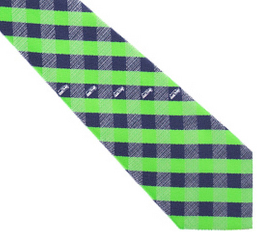 amazon com seattle seahawks check poly necktie sports fan