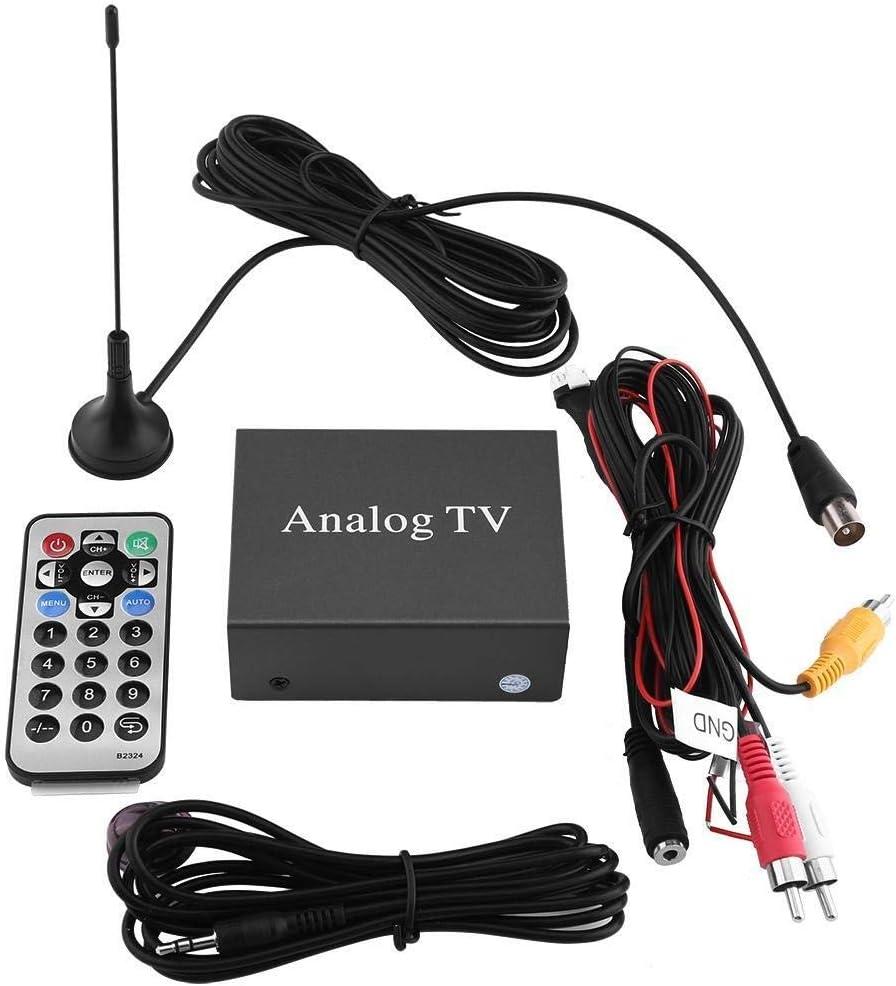 Rockyin Caja fuerte señal móvil del coche de DVD Receptor de TV sintonizador de TV analógica con la antena remota Controlador: Amazon.es: Coche y moto