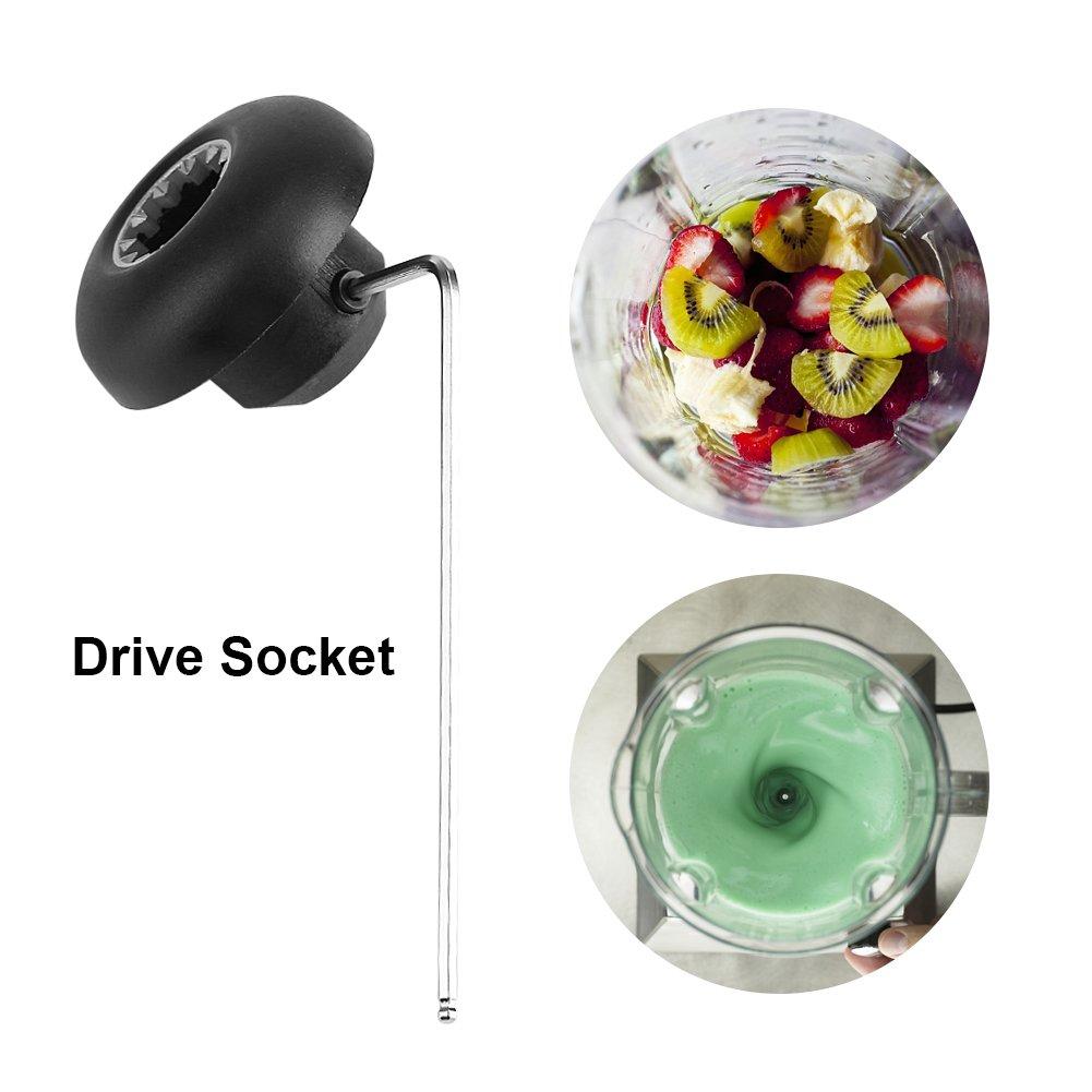 Drive Socket Kit Juicer Mixer Ricambi di ricambio per cambio base professionale Ricambi con chiave per accessori Frullatore Vita-Mix