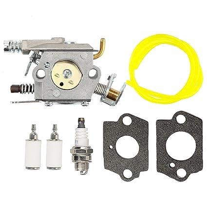 Amazon Com Butom Carburetor With Fuel Line Filter For Poulan 2200