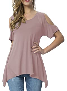 700f39c2611af JayJay Women Plus Size V Criss Cross Neck Summer Tunic Tops at ...