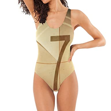 LORVIES Women's Countdown Seven One-Piece Swimsuit Scoop