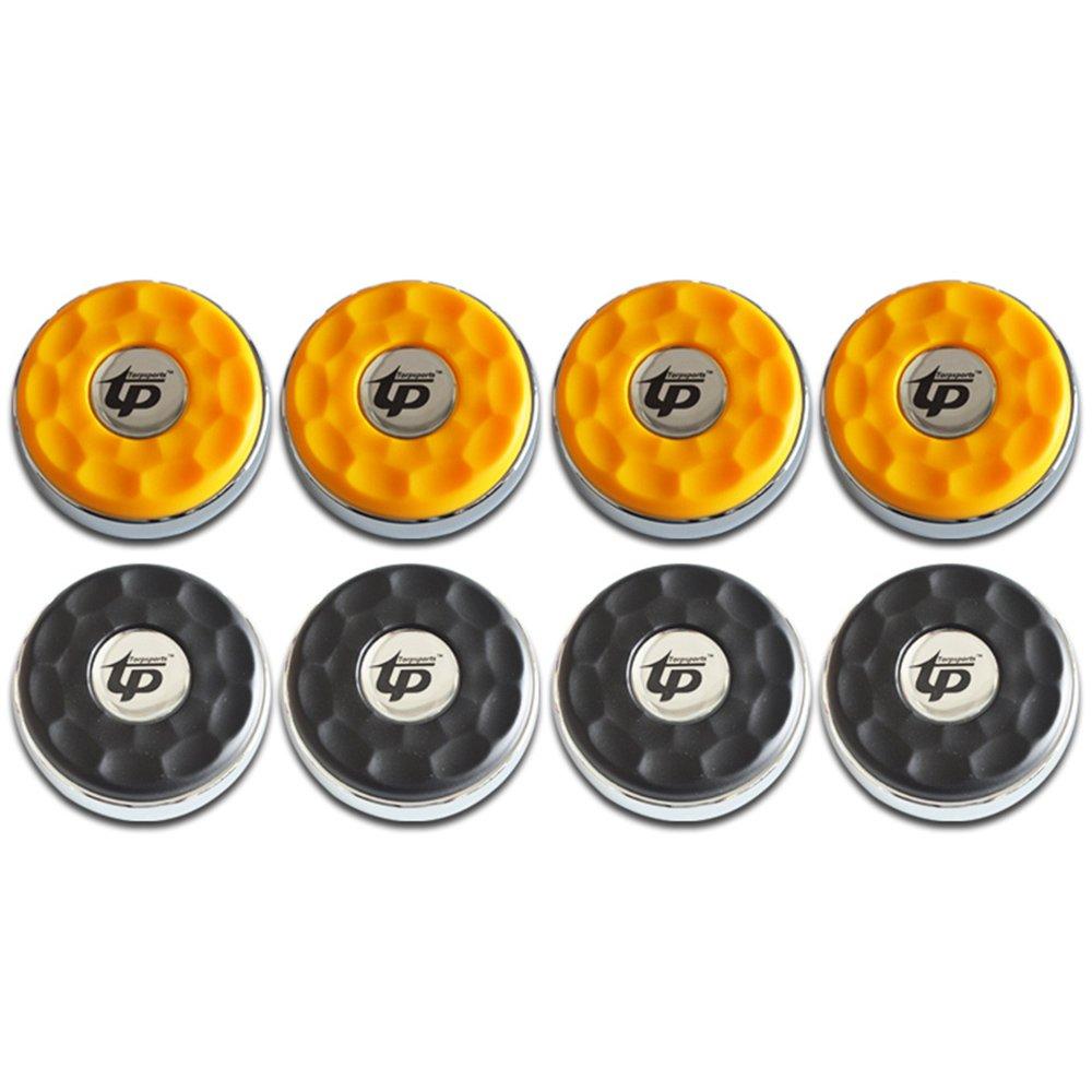 TORPSPORTS (Dia.58mm)2-1/4'' Shuffleboard Pucks, Matt surface Set of 8 Orange/Black by TORPSPORTS