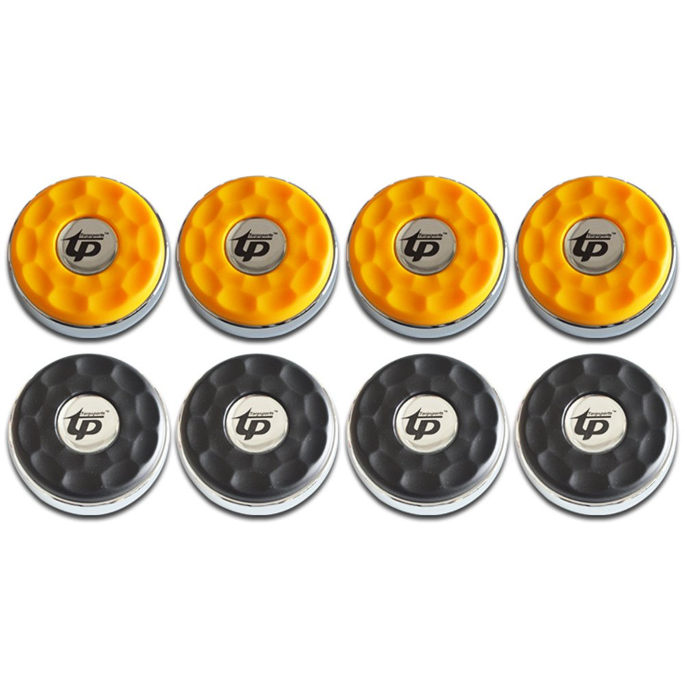 TORPSPORTS (Dia.58mm)2-1/4'' Shuffleboard Pucks, Matt surface Set of 8 Orange/Black
