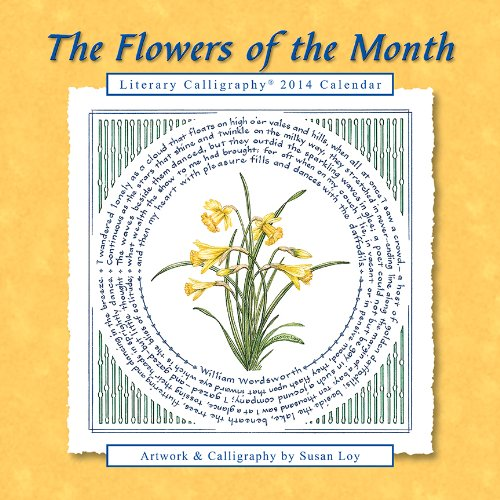 2014 Literary Calligraphy Calendar: The Flowers of the Month hot sale