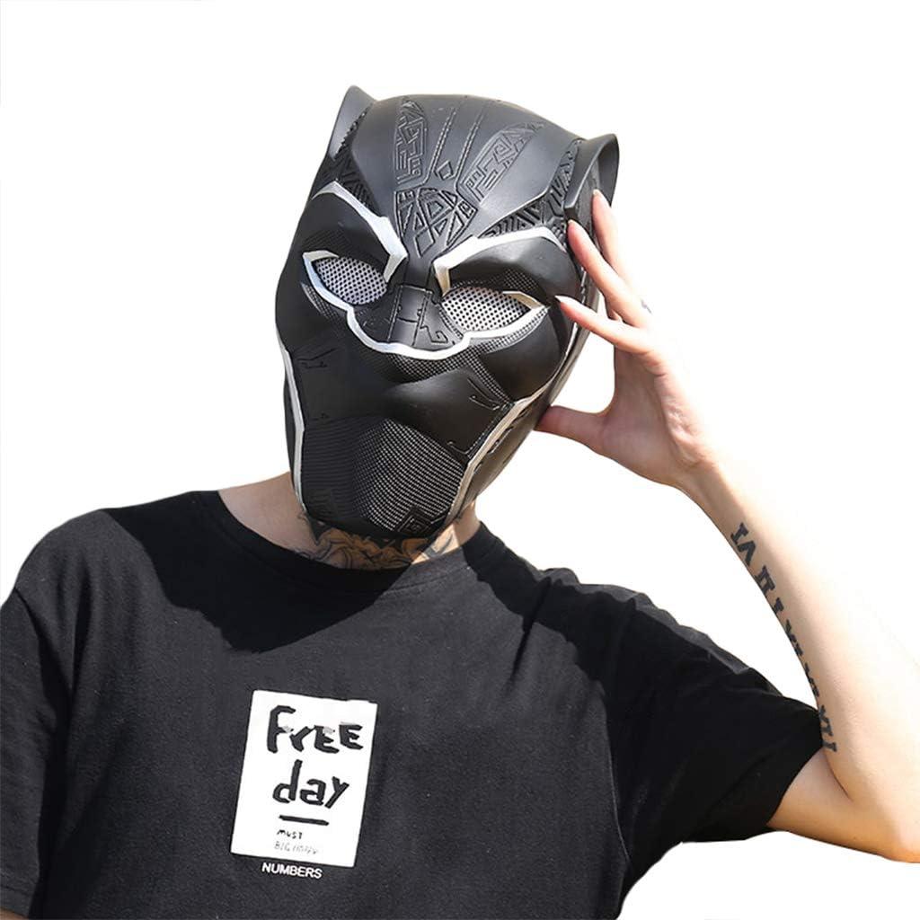 QWEASZER Marvel Avengers Black Panther Casco Facial Máscara PVC ...