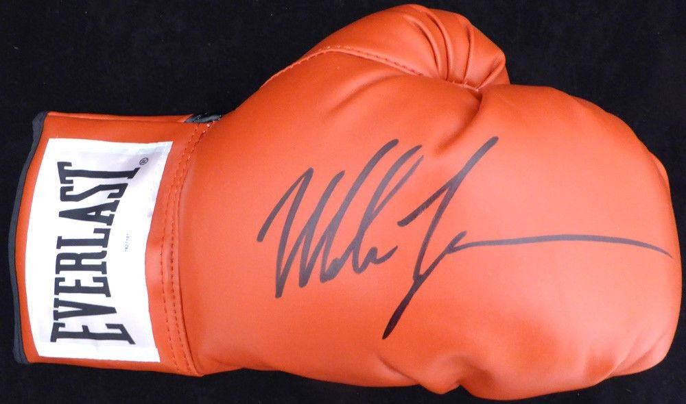 Mike Tyson Autographed Everlast Boxing Glove Rh Signed In Black 128297 Tristar Productions Certified