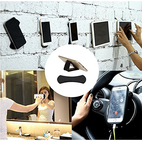 QQ Smart Digital Sticky Gel Pad,8 pcs Sticky Gel Pad,Powerful Strong Holder Stick Glue Anywhere Wall Sticker Anti Slip Washable Repeatedly Nano Rubber Pad for cell phone ipad GPS and more (8PCS) by QQ Smart Digital (Image #1)