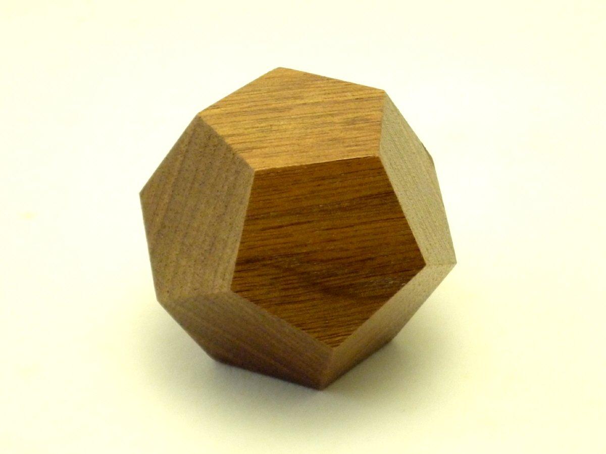 Farbe Holz Dodekaeder Black Walnut