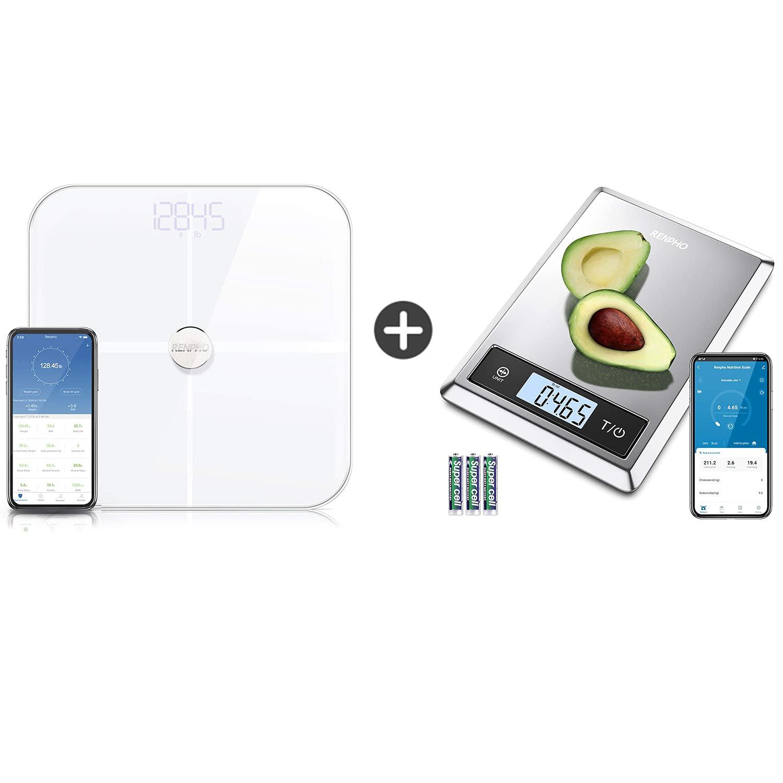 RENPHO Smart Bluetooth Boday Fat Scale & Digital Food Scale