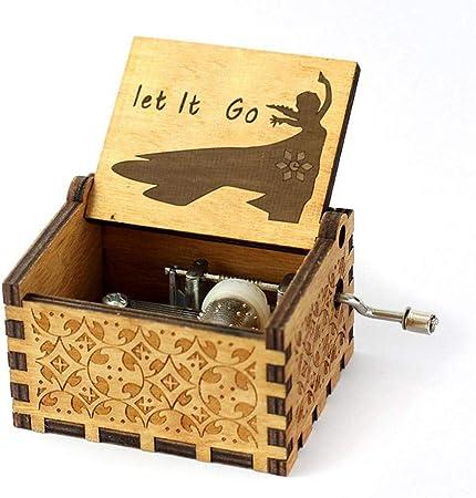 Teepao - Caja de música de Madera Tallada a Mano, grabada a Mano, Caja de música de Madera, Nombre de Tronos/Harry Potter/Bella y la Bestia, Caja de música: Amazon.es: Hogar