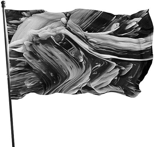 屋外屋内ガーデンバナーサイン抽象的なテクスチャ背景(19)フラグ3x5フットガーデン屋内屋外パーティー装飾バナーブラックワンサイズ