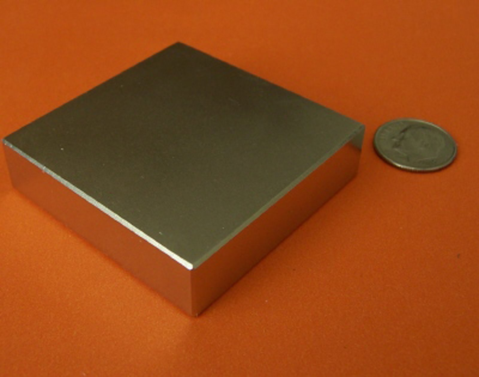 Applied Magnets 1 Piece 2'' x 2'' x 1/2'' Grade N42 Neodymium Block Magnet