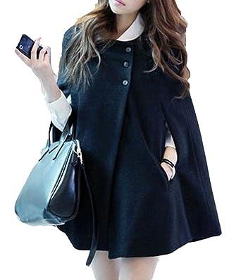 Amazon.com: Wool Tweed Coat Cape Overcoat.: Clothing