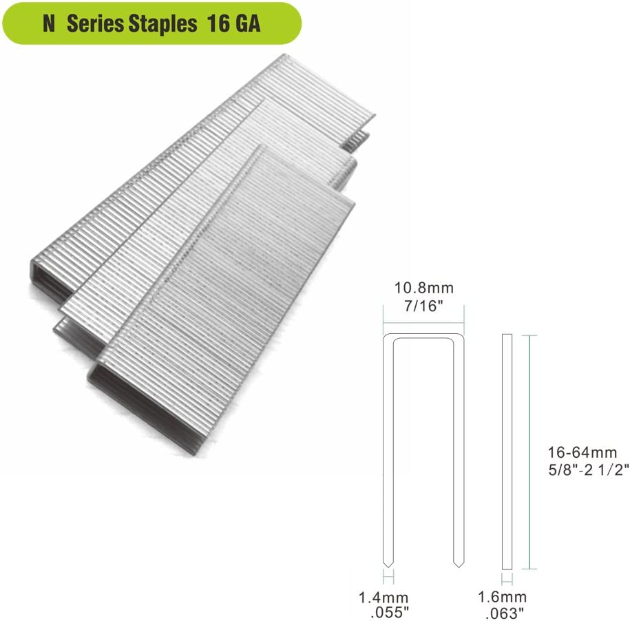meite 16 Gauge 7//16-inch Crown by 3//4-inch Length Galvanized Medium Crown Staples Upholstery Staples Construction Staples 20,020 Per Case