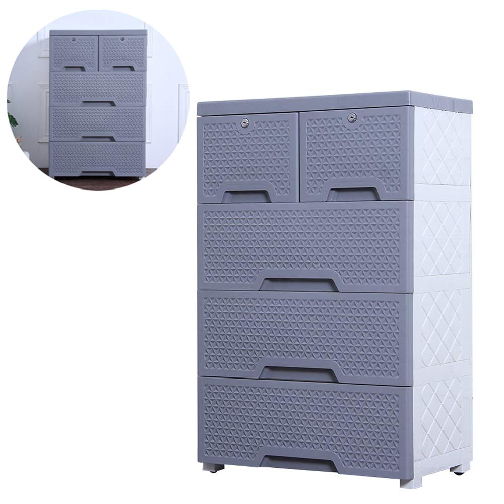 Movable Storage Cabinet,Multipurpose Furniture Organizer,Nafenai Home Bedroom Office 4-layers Storage Cart with 2 Cabinets ,Durable and Environmental-friendly