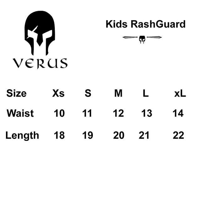 Verus Kids Plain MMA Rash Guard BJJ Grappling Half Sleeve