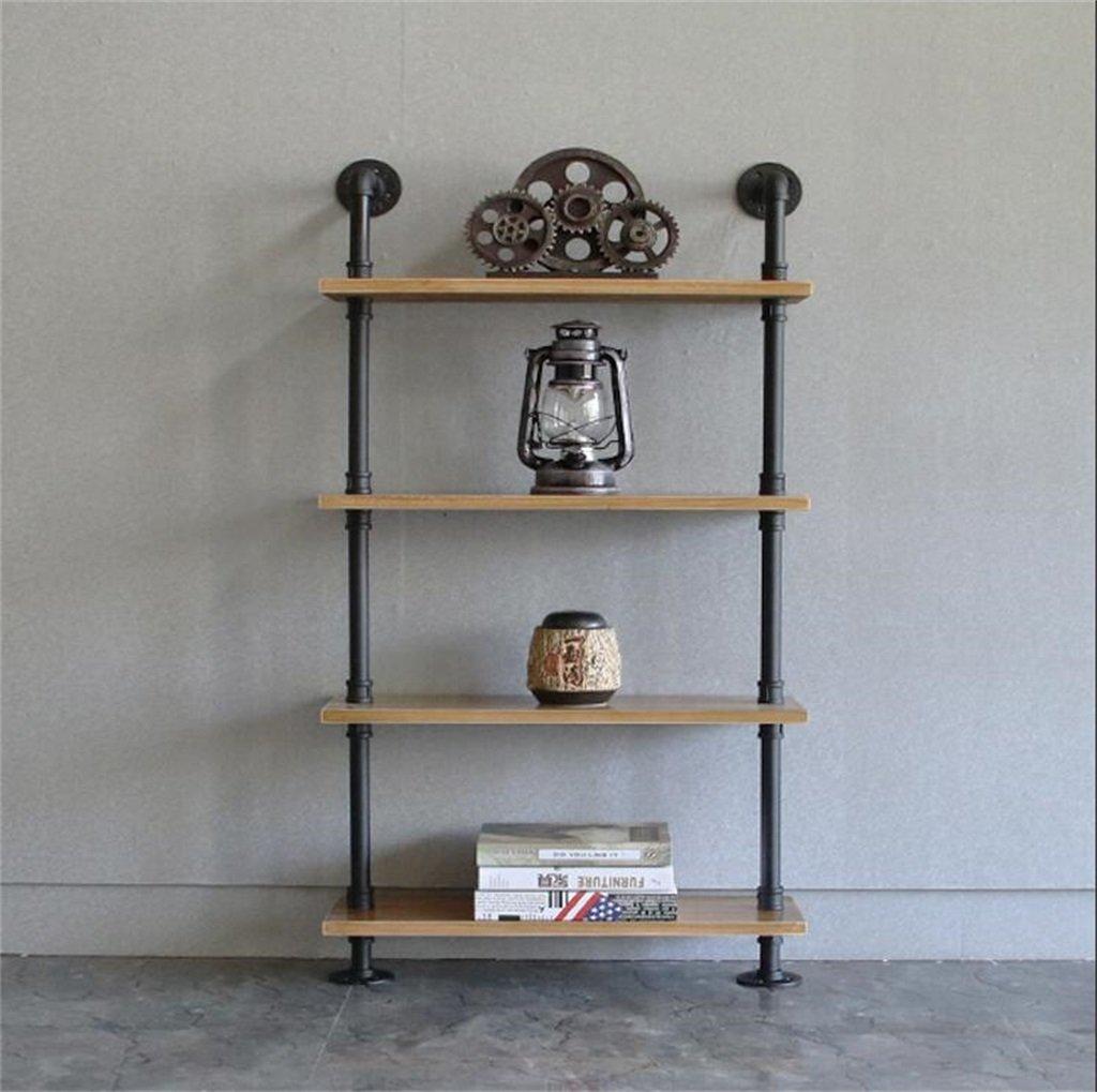 リビングルームベッドルームキッチンの棚 壁に取り付けられた厚紙 - レトロ壁の棚と床のスタンド/バーのための金属の鉄と木製リビングルーム/ LOFT壁掛け立て棚板屋のような寝室のための棚棚ラック/水パイプフローティングユニットフレーム壁の装飾デザイン デコレーションラック (色 : B, サイズ さいず : 60 * 20 * 120CM) B07G9GN5N8 B 60*20*120CM