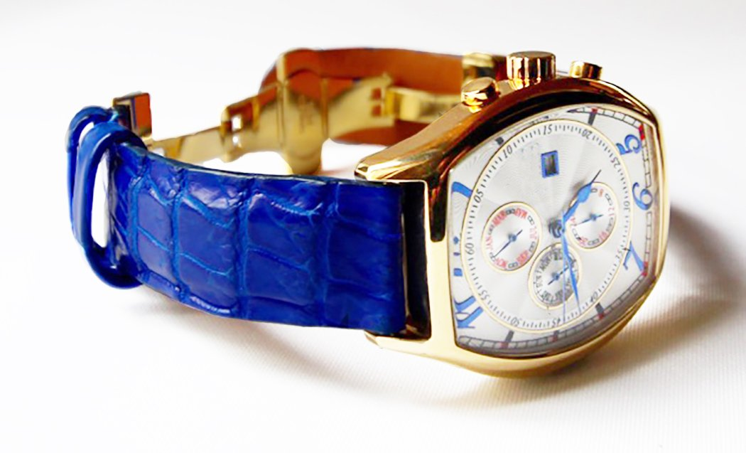 Electric Blue Alligator Watch Strap Gator and Crocodile Replacement Band Collection by John Woodward (21mm)