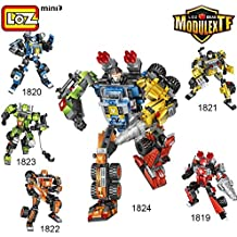 LOZ Diamond Block ModulextfTransformation Robot Series Combination Robot Toy 5 in 1 1824