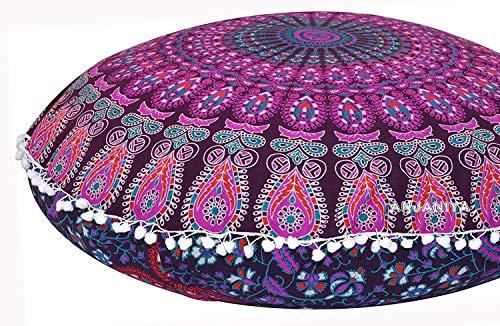 - Plush Decor Large Floor Cushion Cover Meditation Pillow Kids Seating Ottoman Throw Decorative Zipped Bohemian Pouf