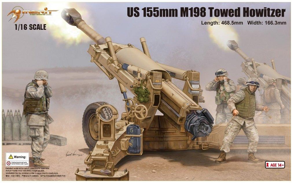 Merit 61602 - US 155 M198 Towed Howed Howitzer, 155 US mm 08b697
