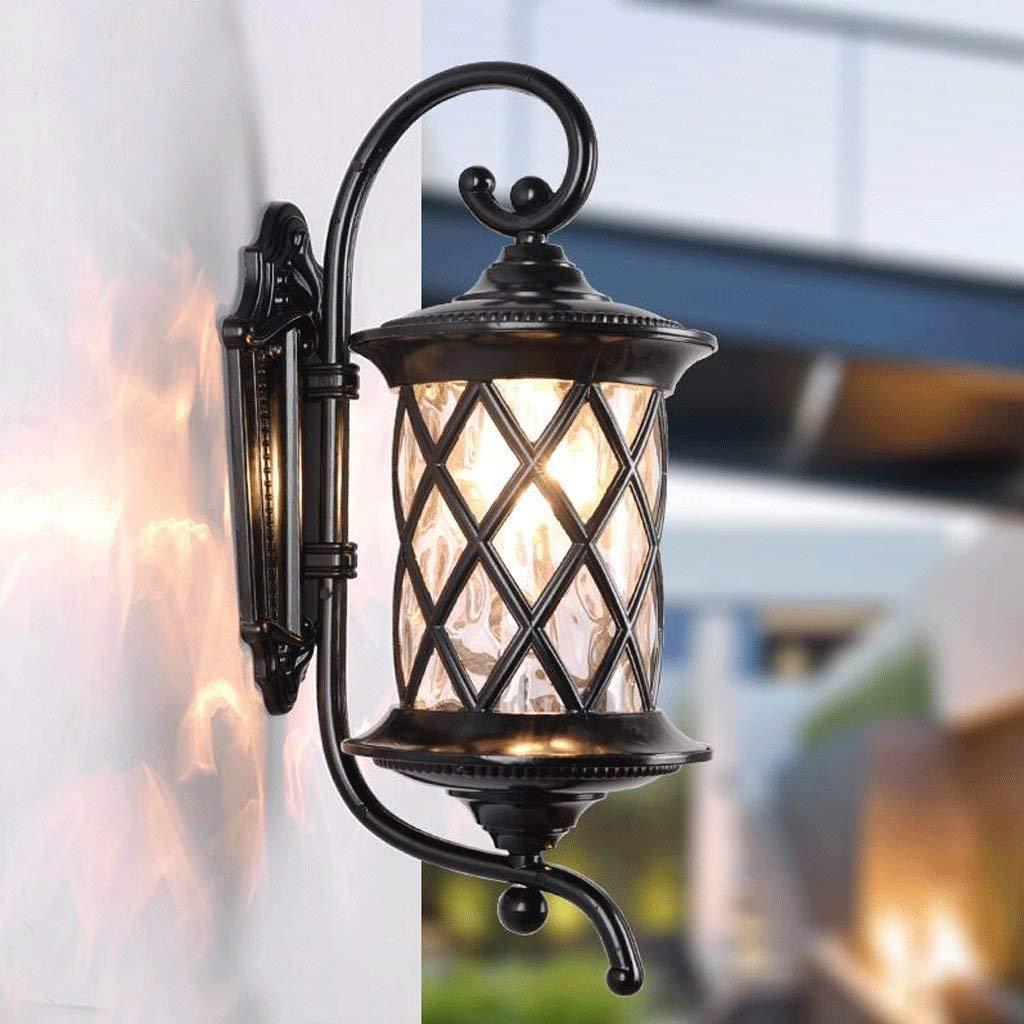 schwarz-h61cm Wandleuchte E27 Outdoor Indoor Botanische Wandleuchte Retro Objekte der Dekoration Leuchten Lounge Balkon Außenbeleuchtung (Farbe  Schwarz - H 46 cm). (Farbe   schwarz-h61cm)