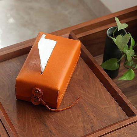 Kyman del Tejido del Cuero de Coches Caja de Almacenamiento de Papel Caja del Coche Dibujado